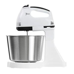 Robot Patissier Support De Mélangeur Électrique Mélange De Bol Crème De Pâte De Pâte Alimentaire Blender Blender pour Le Malaxage de Cookie (Couleur : White, Size : 2L)