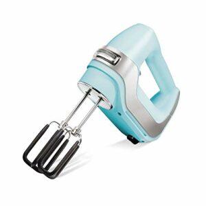 SLSFJLKJ Mélangeur de Nourriture électrique Haute Puissance 7 Vitesses pour mélangeur à Main de Cuisine mélangeur de pâte Batteur à Oeufs Batteur à Main
