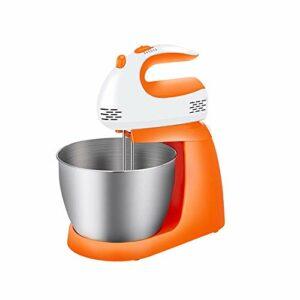 SMEJS Fouet électrique Haute Puissance de Bureau Automatique Domestique avec Seau pour fouetter la crème et Le mélange de Farine