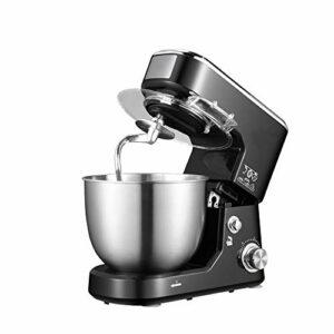 Yousiju Bol en acier inoxydable électrique Support Mixeur crème Blender Pétrir gâteau de pâte à pain Chef de la machine Fouetter les œufs Batteur (Color : B)