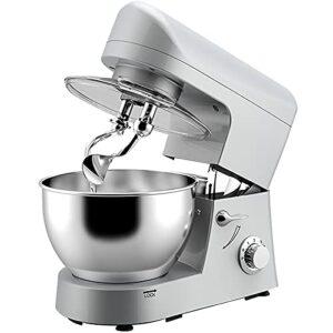 CLING Mélangeurs Cuisine électriques Batteur sur Socle mélangeur pâte Alimentaire 5L 1200W 6 Vitesses avec Crochet à pâte Batteur Plat et Fouet, Bol de mélange