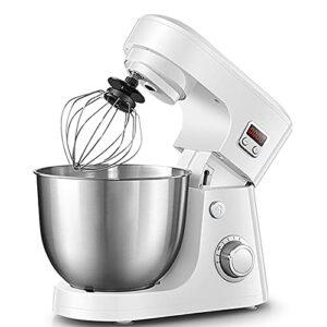CLING Mélangeurs de pâte sur Support Cuisine électriques 8 Vitesses 4.2L 800w avec Bol en Acier Inoxydable, Crochet pétrisseur, Batteur, Fouet et Pare-éclaboussures